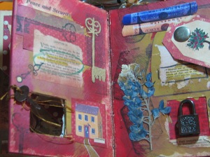 Layout with pressed Bluebonnet and a hidden verse under the sliding tag