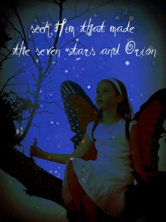Sveva butterfly with stars & Amos 58