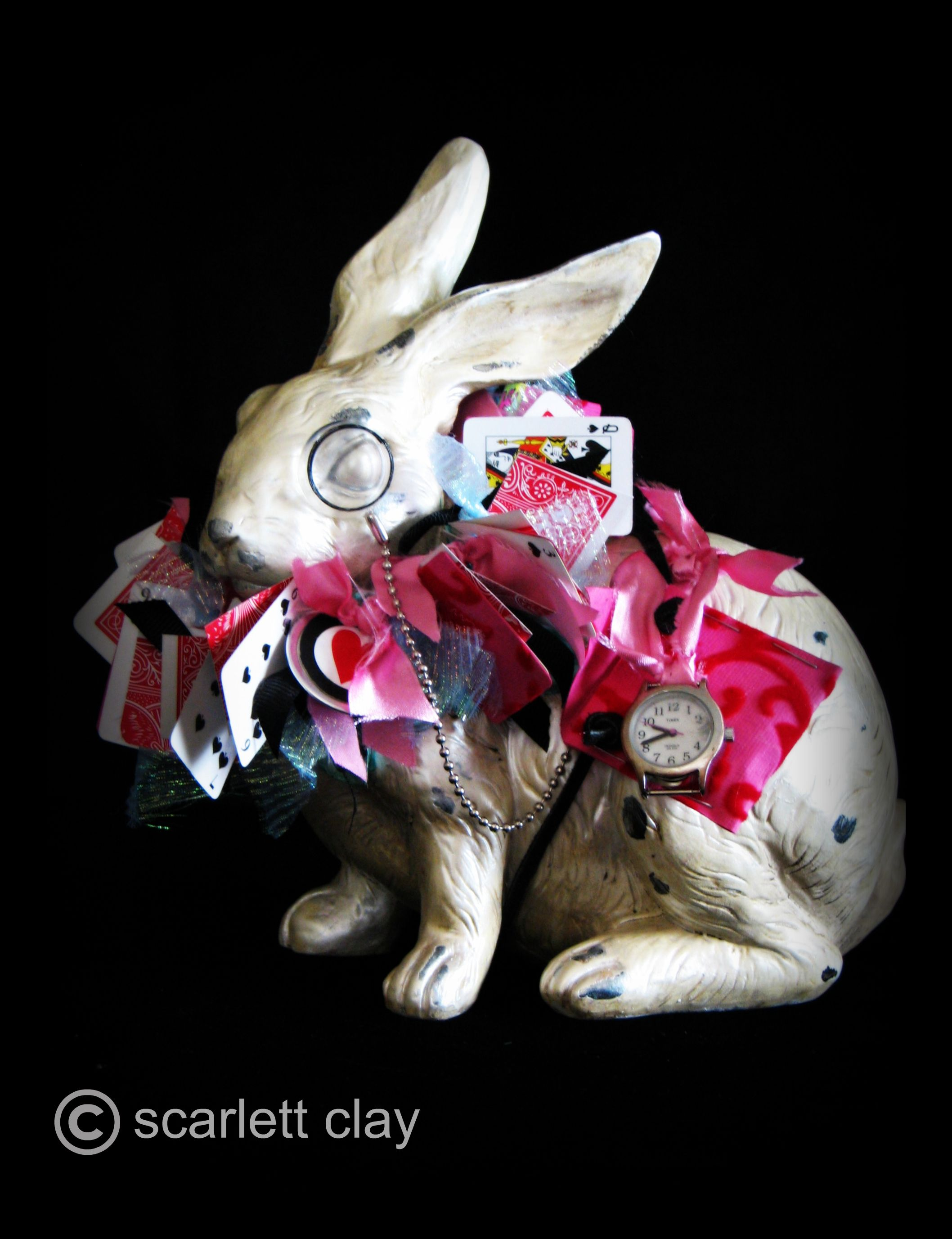"alice in wonderland project ""the white rabbit""  art is medicine, Garden idea"